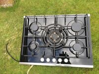 Siemens black glass gas hob