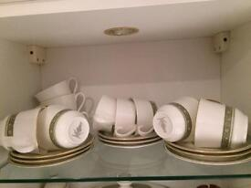 Royal Doulton Rondelay cups and saucers.