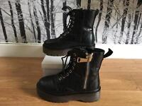 Doc Marten style boots - size 5 - like new in box