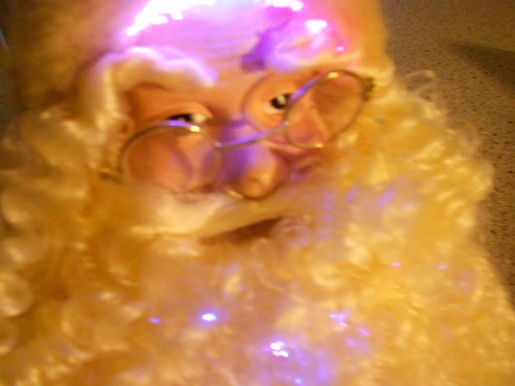 CHRISTMAS FIBRE OPTIC FATHER CHRISTMAS TABLE DECORATION ORNAMENT
