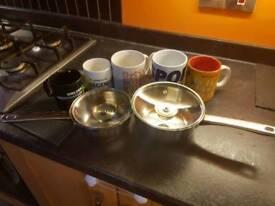 Saucepans and mugs