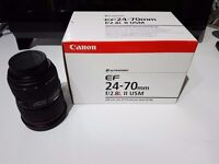 Canon EF 24-70mm F/2.8 II L USM Lens MK 2 Excellent Condition With Filters