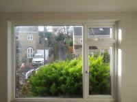 Large White uPVC Double Glazed Window