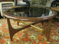 VINTAGE 70s ROUND G PLAN ASTRO FRESCO STYLE COFFEE TABLE