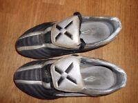 UMBRO FOOTBALL BOOTS uk size 5 eu 37 blue silver