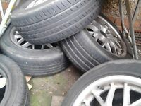 "16"" BBS CH style alloys with good tyres"