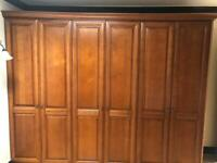 Freestanding solid wood Bedroom Wardrobe