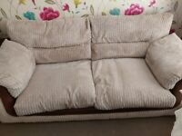 Sofa set- sofa, chair and puffy in great condition