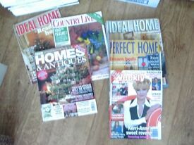 60 FREE MAGAZINES FROM THE 1990s - HOMES & ANTIQUES,IDEAL HOME,HOUSE BEAUTIFUL ETC