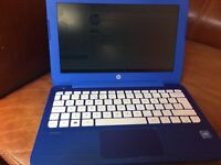 hp stream notebook like new in blue with windows 10