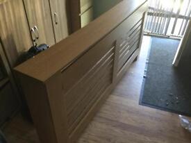 Large oak veneer radiator cover