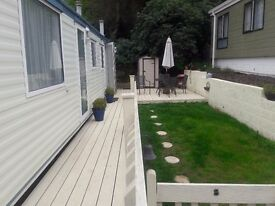 Static Caravan sited South Coast 2 bed. 35 X 12