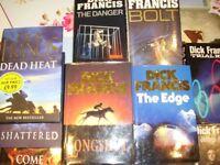 A number of hard back Dick Francis novels