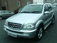2002 02 MERCEDES ML500 AMG 5.0 AUTOMATIC ** ONLY 87000 MILES ** TRADE IN TO CLEAR ** CHEAP ML AYR *