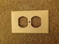 Electrical outlet plate covers