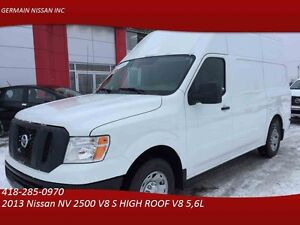 2013 Nissan NV 2500 V8 S HIGH ROOF V8 -  REMORQUAGE DE 9500LBS-