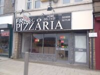 Pizza & Grill Takeaway shop, central, Front Street, Consett, Co.Durham, with Full Equipment &Fitting