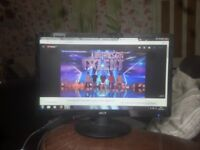 """for sale 22"""" led widescreen computer monitor £20"""
