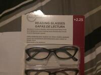 3 brand new pairs of women's reading glasses strength 2.25