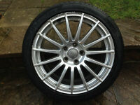 "GENUINE AUDI 18"" DTM SPECIAL EDITION SPARE ALLOY WITH VG PIRELLI TYRE 5X112"