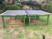 Vintage Jaques of London table tennis table