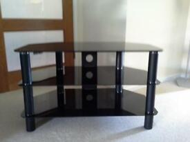 "Glass TV Stand to suit TV's up to 37"" (with 2 shelves)"
