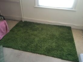 Ikea Hampen High-Pile Rug - Green