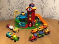 Early Learning Garage and Vehicle Play Set Bundle