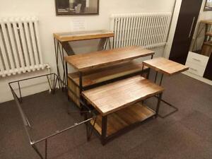 Table de salon Éco - Logik en acier et bois recyclé. Pas de taxes sur les Démo