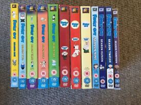 Collection of Family Guy DVD's . Seasons One to Fourteen but excluding Seasons Ten and Thirteen