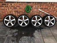 17 inch wolfrace alloy wheels 4x100 with ok tyres