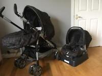 Mamas and Papas Pliko P3 pram/buggy and car seat