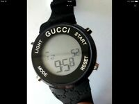 Men's watch gucci black digital