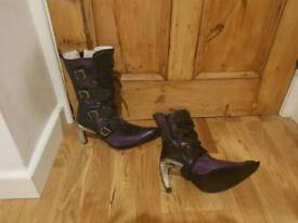 New Rock Boots x2 pairs (Red and Purple)