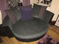 Sofa, Cuddle Chair and Footstall