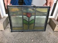 Stained Glass Windows original from 1930s house various sizes