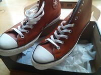 acd6b6df781 Converse Chuck Taylor All Star -Leather Wool Boots -Tan size 10 Brand New