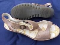 Fly London Yanca Wedge sandals size 38