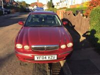 JAGUAR X-TIPE SE D ESTATE DISEL CAR 2004 5 DOOR RED