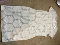 River Island Size 18 White Sparkle Dress