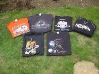 Biker T Shirts / Hoodie Size XL