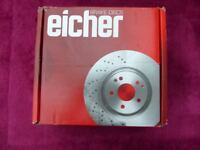 Pair of Brake Discs for Ford Fiesta, KA, Courier (and Mazda) Eicher part no. 104590019