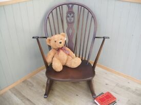 Stunning Ercol Fleur De Lis Rocking Chair