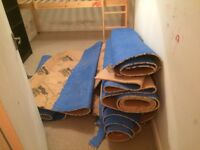 large amount of spare underlay -
