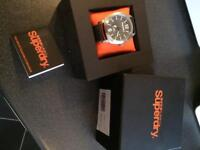 Men's Superdry Thor watch boxed.