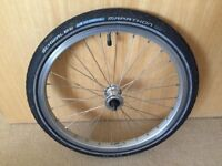 Brompton front and 3 Spd rear wheel for sale