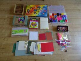 craft items . dolly pegs , felting kits , hamma bead set, loom band gear . card making items etc