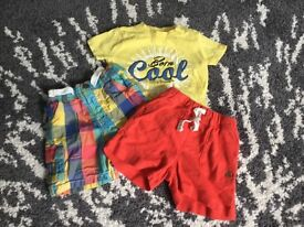 X t-shirt and X2 shorts 3-6months