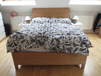 Wicker Double Bed Frame