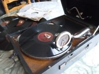 original (hmv) his masters voice table top 1930s 78 speed gramophone,in perfect working condition.